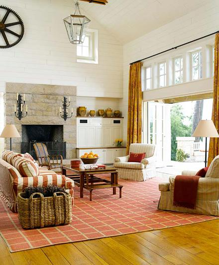 A Warm Rug Some Fall Primping Home Decor: Neutral Color Designs