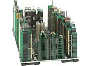 City Model Built Completely Computer Parts