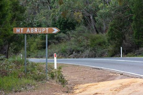 road sign to mount abrupt