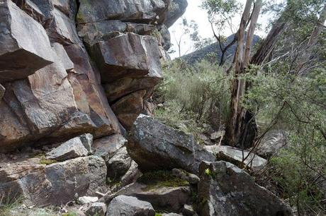 rock wall near mount abrupt track