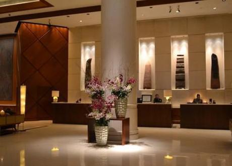 Fairmont Hotel lobby, Singapore. Photo credit: Dawn Kissi