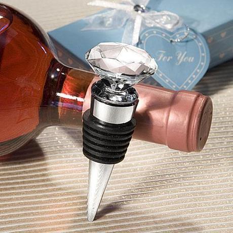 Choice Crystal Diamond Design Bottle Stopper