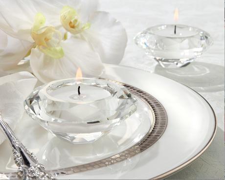 Crystal Diamond-Shaped Tea Light Holder