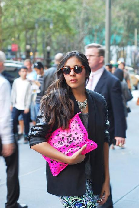 New York Fashion Week Outside Oscar De la Renta Show