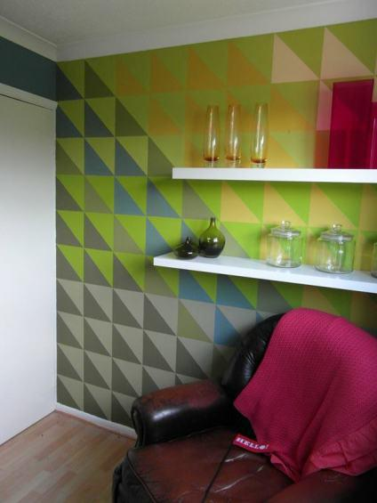 Interior Design Inspiration Geometric Wall Mural Paperblog