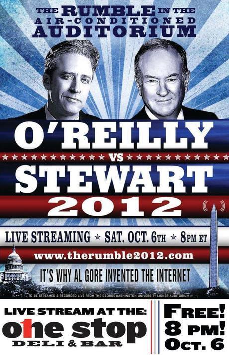 Watch Bill O'Reilly versus Jon Stewart debate for free at One Stop Saturday