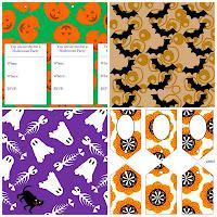 Halloween Printable Party Stationary