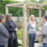 architect Sam Goss in discussion with visiting building professionals