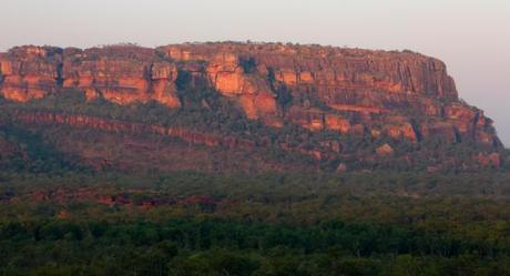 Sunset highlighted cliffs in the Northern Territory, Australia
