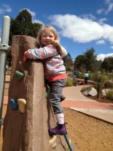 Lillian climbing