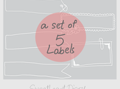 FREEBIE: Memo Pads Labels