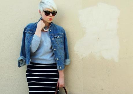 how to style, fall fashion, what i wore, casual style, sport luxe, pixie cut, style, layering, red lipstick