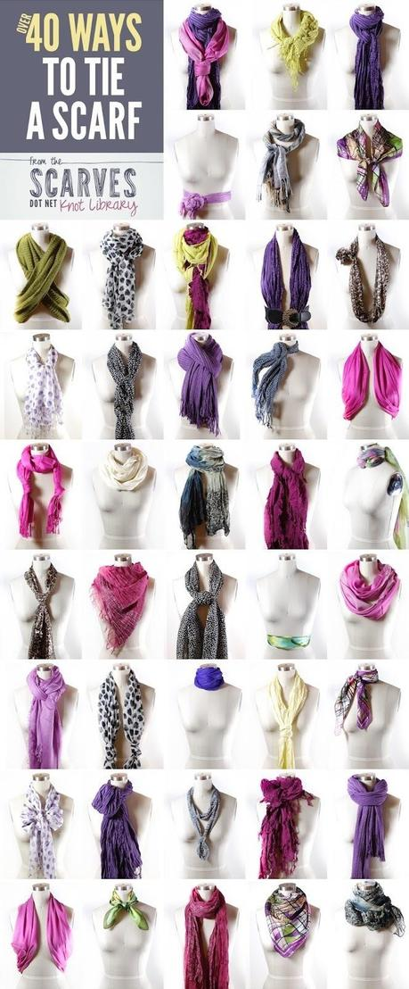 40 ways to wear your winter scarf paperblog