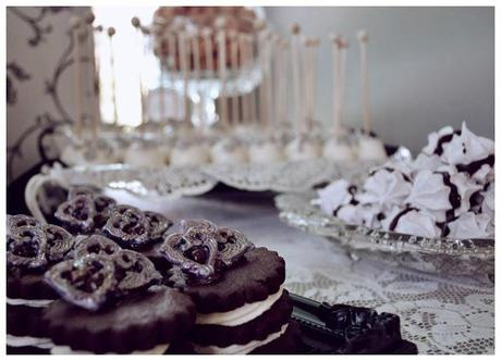 Elegant Black, White & Silver Wedding Table by Sweet Boutique Events