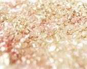 Pink and Gold Glitter - Fine Art Photography, Metallic Finish, Wall Art, Home Decor, Girly, Sparkly - In Stock - 8x10 - SweetMomentsCaptured