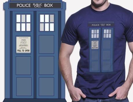 TARDIS, POlice Call Box t-shirt, time travel, dr. who costume
