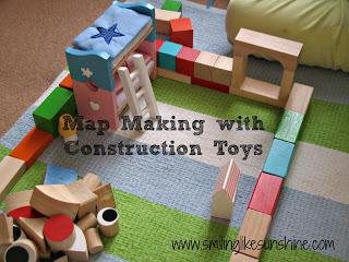 Map Making with Construction Toys