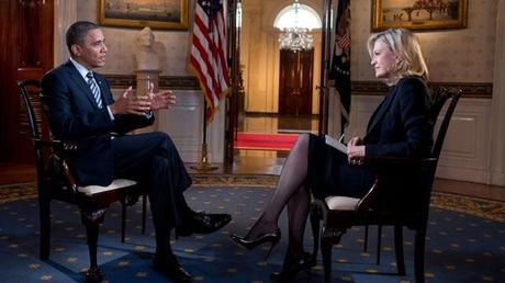 President Obama told Diane Sawyer that Mr. Romney was rewriting his political program as he went along.