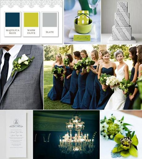 Wedding Color Palette Gray Green And Navy