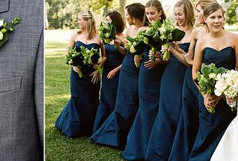 Wedding Color Palette: Gray, Green and Navy - Paperblog