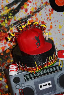 A Supercool -Fun and groovy DJ themed 13th Birthday by Clair from Calamity Cakes