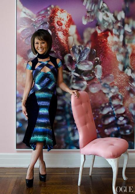PRETTY IN PINK Alina Cho's NYC Pad