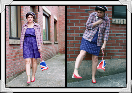 Outfit Post: Polyester Plaid + Polka Dots