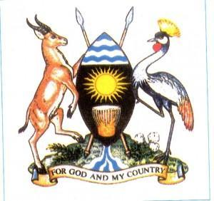 The Uganda Kob and the Grey Crested Crane adorn the country's crest