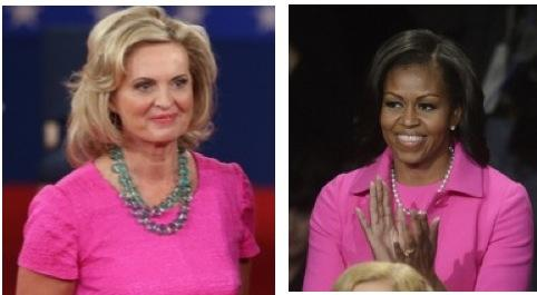 Pink Dress Debate: Who Wore it Better at the Debate Last Night, Michelle Obama or Ann Romney?