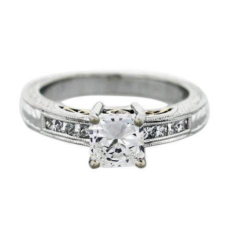 Natalie K Radiant Cut Diamond Engagement Ring, natalie k rings