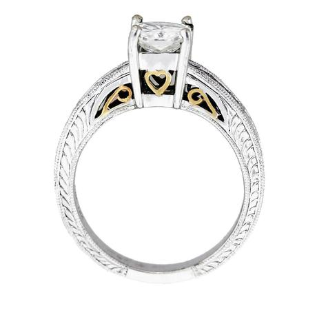 natalie k engagement ring, yellow gold and white gold engagement ring