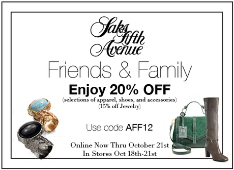 Saks Fifth Avenue Off 5th Friends And Family 2018