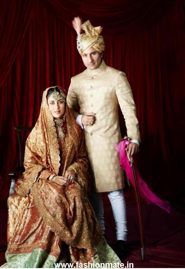 Kareena Kapoor in Royal Pataudi family Sharara at her Wedding- Nikah with Saif Ali Khan