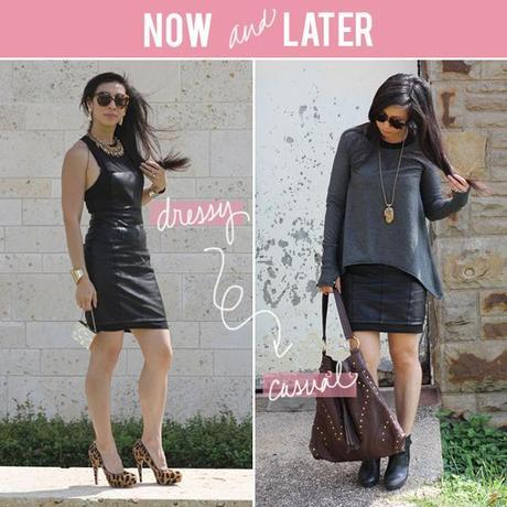 Now and Later // Leather Dress