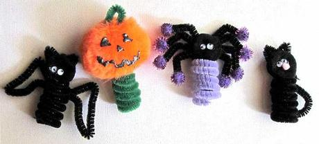easy halloween craft puppet Halloween Kids Crafts Easy Finger Puppets Quick Halloween Crafts For Preschoolers