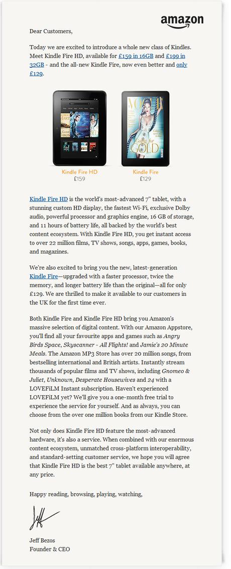 Kindle Fire Note Amazon UK