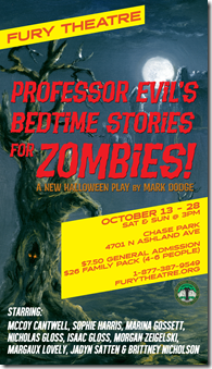 Review: Professor Evil's Bedtime Stories for Zombies! (Fury Theatre)