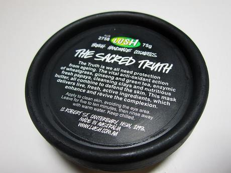Review: Lush The Sacred Truth Fresh Face Mask