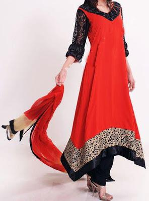 Pakistani Traditional Embroidery Dresses Collection 2012