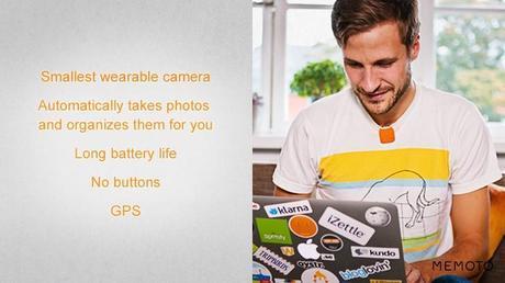smallest camera2 Memoto Lifelogging Camera   Wearable Camera