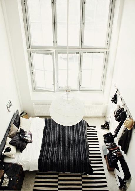 A bedroom in grey