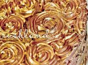 Antique Golden Rose Birthday Cake