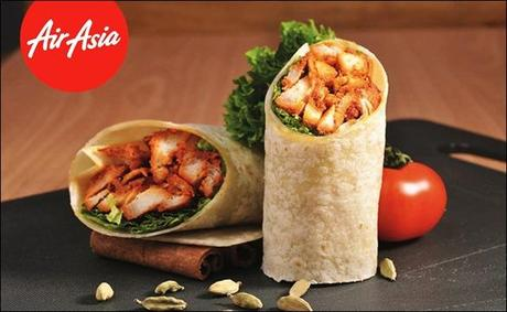 Tandoori chicken tortilla wrap