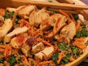 Chicken Couscous Salad with Harissa Dressing
