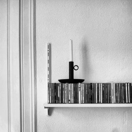 Long rows of music in our living room