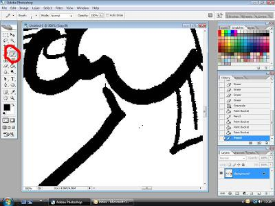 Colouring an editorial cartoon in Photoshop