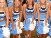 North Carolina Cheerleaders Ready Basketball