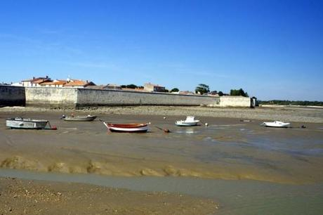 Low tide on the Isle of Aix, France