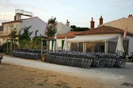 Bikes for rent on the Isle of Aix.