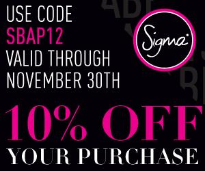 New 10% Off Coupon Code For Sigma - November 2012